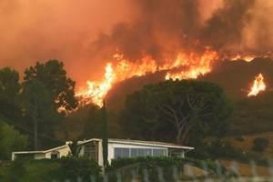 лесной пожар возле жилища