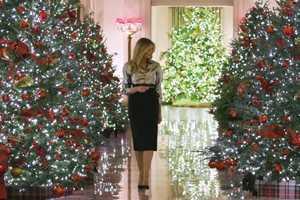 Мелания Трамп Новый Год Белый дом