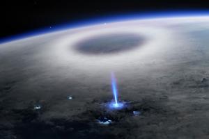 голубая струя в космосе