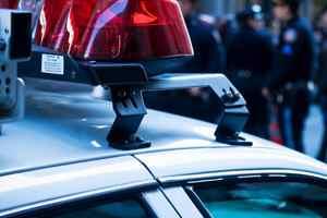 мигалка на полицейской машине